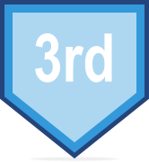 3rd place course badge
