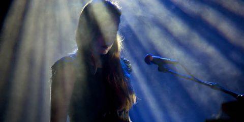 singing on stage